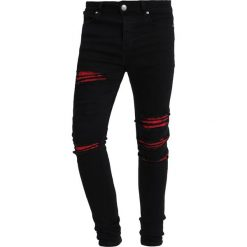 Jeansy męskie regular: Sixth June WITH RED BANDANA Jeans Skinny Fit black