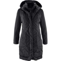 Płaszcz ocieplany bonprix czarny. Czarne płaszcze damskie bonprix. Za 239,99 zł.