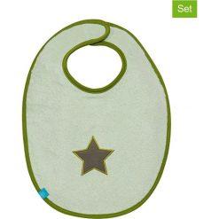 """Śliniaki: Ślinaczki (2 szt.) """"Starlight"""" w kolorze oliwkowym – 39 x 29 cm"""
