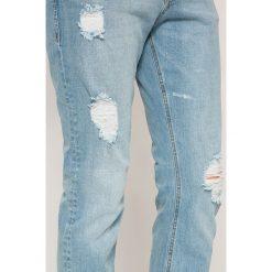 Jack & Jones - Jeansy Glenn. Czarne jeansy męskie slim marki Jack & Jones, l, z bawełny, z okrągłym kołnierzem. W wyprzedaży za 119,90 zł.
