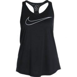 Nike Performance TANK ELASTIKA  Koszulka sportowa black/vast grey. Czarne t-shirty damskie Nike Performance, xl, z materiału. Za 139,00 zł.