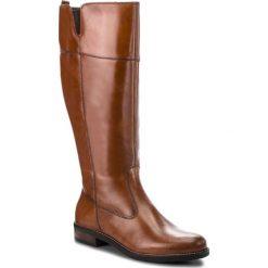 Kozaki TAMARIS - 1-25542-21 Cuoio 455. Brązowe buty zimowe damskie Tamaris, z materiału. Za 399,90 zł.