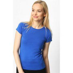 T-shirty damskie: Niebieski T-shirt Back To Basic