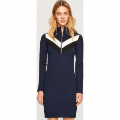 Dzianinowa sukienka mini - Granatowy. Fioletowe sukienki dzianinowe marki Reserved, mini. Za 59,99 zł.
