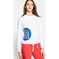 Bluza, logo La Redoute. Szare bluzy damskie marki La Redoute Collections, m, z bawełny, z kapturem. Za 102,86 zł.