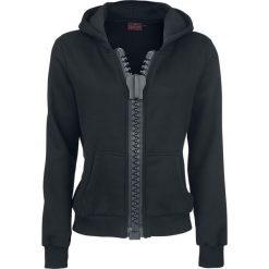 Bluzy rozpinane damskie: Alcatraz Big Zipper Hoodie Bluza z kapturem rozpinana damska czarny