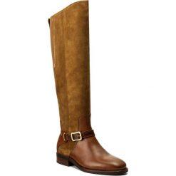 Oficerki GANT - Lucille 15581029 Cognac G45. Brązowe buty zimowe damskie GANT, z materiału, na obcasie. W wyprzedaży za 559,00 zł.