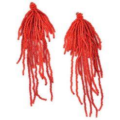 Kolczyki damskie: Kolczyki w kolorze czerwonym