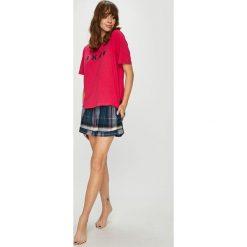 Dkny - Piżama + opaska na oczy do spania. Szare piżamy damskie marki DKNY, l, z bawełny. W wyprzedaży za 279,90 zł.