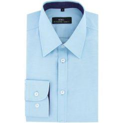 Koszula ROBERTO 16-03-04. Niebieskie koszule męskie na spinki Giacomo Conti, m, z bawełny, z klasycznym kołnierzykiem. Za 149,00 zł.