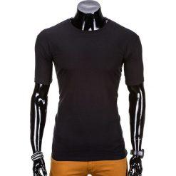 T-shirty męskie: T-SHIRT MĘSKI BEZ NADRUKU S870 – CZARNY