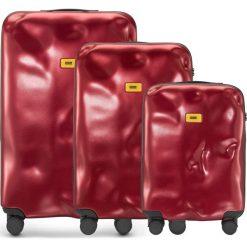Walizki Icon w zestawie 3 el. czerwony. Czerwone walizki marki Crash Baggage, z materiału. Za 2628,00 zł.