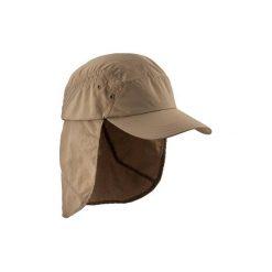 Czapka trekkingowa z daszkiem TREK 900. Brązowe czapki z daszkiem damskie FORCLAZ, z materiału. Za 44,99 zł.