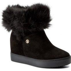 Botki LIU JO - Sneaker Zeppa Olivia S67231 P0298 Nero 22222. Czarne botki damskie na obcasie Liu Jo, ze skóry. W wyprzedaży za 439,00 zł.