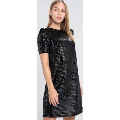 Sukienki hiszpanki: Dorothy Perkins Petite HOLOGRAM MUTTON SLEEVE SHIFT Sukienka koktajlowa black / silver