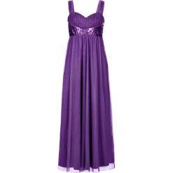 Długie sukienki: Długa sukienka bonprix jagodowy