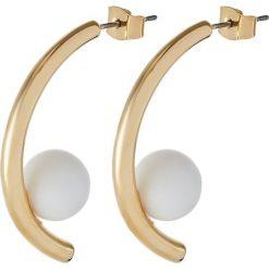Kolczyki damskie: Whistles CURVE STONE EARRING Kolczyki goldcoloured