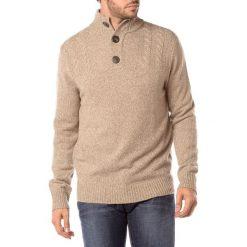 Golfy męskie: Sweter w kolorze piaskowym