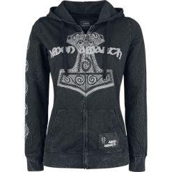 Bluzy damskie: Amon Amarth EMP Signature Collection Bluza z kapturem rozpinana damska ciemnoszary