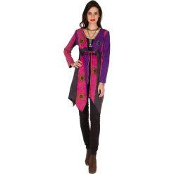 Kardigany damskie: Kardigan w kolorze szaro-różowo-fioletowym