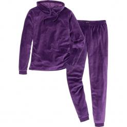 Piżama z weluru nicki bonprix ciemny lila. Fioletowe piżamy damskie marki bonprix, z weluru. Za 109,99 zł.
