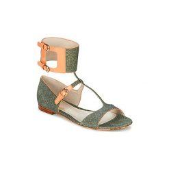 Sandały John Galliano  A65970. Szare sandały damskie marki John Galliano. Za 2463,20 zł.