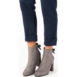 STYLOWE SZARE BOTKI. Szare botki damskie na zamek Ideal Shoes, eleganckie. Za 99,99 zł.