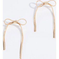Kolczyki damskie: Kolczyki kokardki – Złoty
