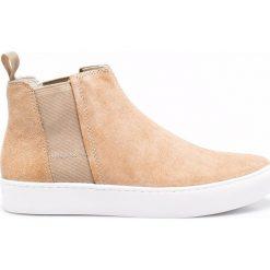 Vagabond - Botki. Szare buty zimowe damskie marki Vagabond, z gumy, z okrągłym noskiem, na obcasie. W wyprzedaży za 279,90 zł.