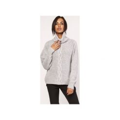 Sweter z warkoczem, SWE115 szary. Szare swetry oversize damskie Lanti, l. Za 142,00 zł.