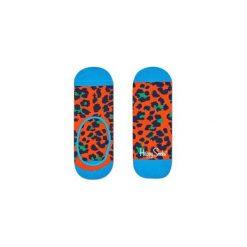 Skarpetki Happy Socks - Leopard Liner (LEO06-2000). Szare skarpetki męskie Happy Socks, w kolorowe wzory, z bawełny. Za 27,90 zł.