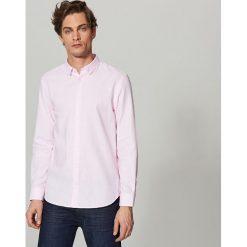 Koszule męskie na spinki: Koszula z domieszką lnu regular fit – Różowy