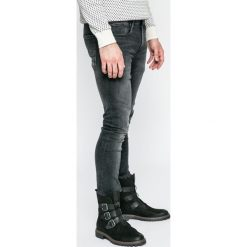 Pepe Jeans - Jeansy Finsbury. Szare jeansy męskie skinny Pepe Jeans, z bawełny. W wyprzedaży za 239,90 zł.