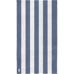"""Kąpielówki męskie: Ręcznik plażowy """"Vamos"""" w kolorze niebiesko-białym"""