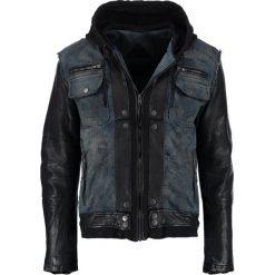Be Edgy BEMAX D Kurtka jeansowa black/indigo. Niebieskie kurtki męskie jeansowe marki Reserved, l. Za 999,00 zł.