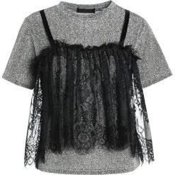 T-shirty damskie: Navy London STEVIE Tshirt z nadrukiem silver