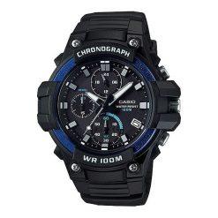 Zegarek Casio Męski  Chronograf MCW-110H-2AVEF. Czarne zegarki męskie CASIO. Za 279,99 zł.