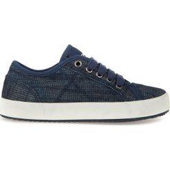 """Sneakersy """"Alonisso"""" w kolorze granatowym. Niebieskie trampki chłopięce marki geox kids, z gumy. W wyprzedaży za 107,95 zł."""