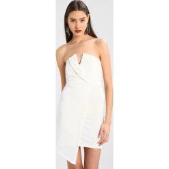 Sukienki: Missguided WRAP BANDEAU DRESS Sukienka koktajlowa white