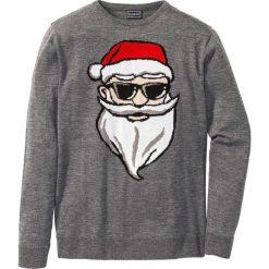 Sweter Regular Fit bonprix szary melanż. Szare swetry klasyczne męskie marki bonprix, l, melanż. Za 69,99 zł.