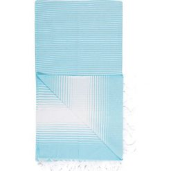 Chusta hammam w kolorze turkusowym - 180 x 100 cm. Czarne chusty damskie marki Hamamtowels, z bawełny. W wyprzedaży za 43,95 zł.