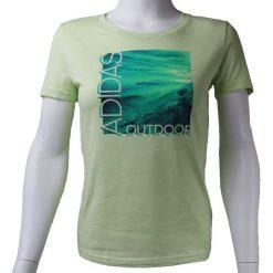 T-shirty damskie: Adidas Koszulka damska ADI Landscape Tee oliwkowa r. S