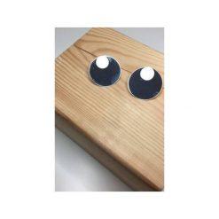Kolczyki damskie: Srebrne kolczyki koła z podkładkami małe