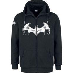 Batman Logo Bluza z kapturem rozpinana czarny. Czarne bejsbolówki męskie Batman, l, z motywem z bajki, z materiału, z kapturem. Za 121,90 zł.