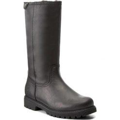 Kozaki PANAMA JACK - Bambina B60 Black. Czarne buty zimowe damskie Panama Jack, ze skóry. Za 789,00 zł.