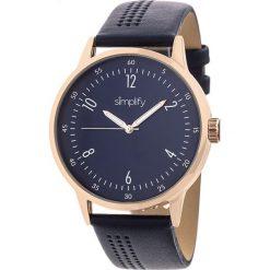 Zegarki męskie: Zegarek kwarcowy w kolorze granatowo-różowozłotym