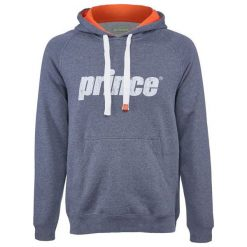Bejsbolówki męskie: PRINCE Bluza męska Pullover Hoodie szaro-pomarańczowa r. M (3M152037)