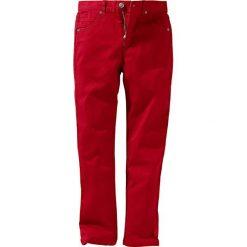 Rurki dziewczęce: Spodnie twillowe Slim Fit bonprix ciemnoczerwony