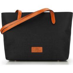 Torebka damska 87-4E-432-1. Czarne shopper bag damskie Wittchen, w paski, z nylonu, z tłoczeniem. Za 359,00 zł.