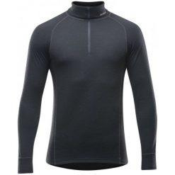 Koszulki sportowe męskie: Devold Koszulka Męska Duo Active Man Zip Neck Black Xl